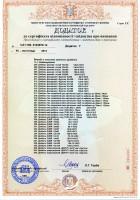 Додаток лист № 7. Крепежные изделия. Часть 1. Сертификаты УкрСЕПРО.