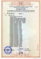 Додаток лист № 8. Крепежные изделия. Часть 1. Сертификаты УкрСЕПРО.