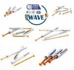 Дюбель-гвозди 6х40,6х60,6х80 гриб,потай,бурт и 8х60,8х80,8х100,8х120 потай и бурт от WAVE - ISO 9001