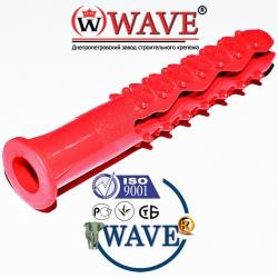 Дюбель ёжик 8х50 бурт с волновым распором - ISO 9001