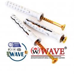 8х60 бурт Дюбель-гвоздь WAVE - ISO 9001
