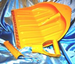 Снегоуборочные лопаты пластик металлический край (кант) совковые