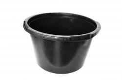 таз 40 литров строительный чёрный корыто для раствора