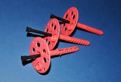 пенопласт: дюбель-зонт, крепления тарельчатые