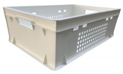 видео испытаний ящика Е-2 белого перфорированного: 1 - на прочность 2. в штабель