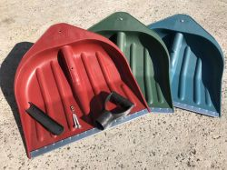 лопаты снегоуборочные 440х460 красные зеленые синие жёлтые