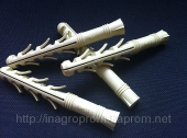 Дюбель ZUBR 12х100 mm усиленный,3 пары зубьев