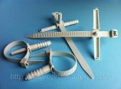 Стяжки 10х140 mm с дюбелем 10х40 mm ( вертолет, зажим, хомут ) для крепления проводов и кабелей - ISO 9001