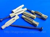 Дюбели 6х35mm  универсальные  узелковые, без бурта, c универсальным шурупом, трехстороннего распора, типа ЖГУТ