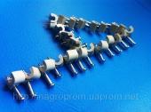 Скобы (клипсы) с гвоздём 4 mm круглые для крепления провода и кабеля - ISO 9001