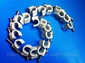 Скобы ( клипсы ) с гвоздём 6 mm круглые для крепления провода и кабеля - ISO 9001