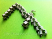 Скобы ( клипсы ) с гвоздём 7 mm круглые для крепления провода и кабеля - ISO 9001