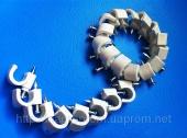 Скобы ( клипсы ) с гвоздём 9 mm круглые для крепления провода и кабеля - ISO 9001