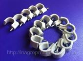 Скобы ( клипсы ) с гвоздём 10 mm круглые для крепления провода и кабеля - ISO 9001