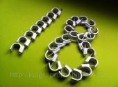Скобы (клипсы) с гвоздём 18 mm круглые для крепления провода и кабеля - ISO 9001
