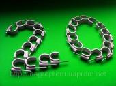 Скобы ( клипсы ) с гвоздём 20 mm круглые для крепления провода и кабеля - ISO 9001