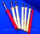 Дюбели фасадные  10-ой серии с шурупом- глухарём М8,размеры 10х80,10х100,10х120,10х140,10х160,10х180 и 10х200 mm,нагрузка 300-400 кг - ISO 9001