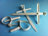 Стяжки с дюбелем ( вертолёт, хомут, зажим ) три типоразмера - ISO 9001