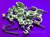 Скобы (клипсы) с гвоздём для кабеля и провода 21 типоразмер