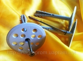 Дюбель крепления теплоизоляции 10х110 диск 70 с шурупом