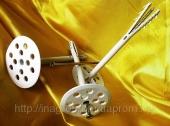 Дюбель крепления теплоизоляции 10х160 диск 70 с шурупом