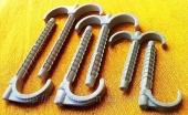 Дюбель крюк двойной и одинарный 70,100 и 120mm для крепления труб и кабеля до 35 mm