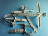 Стяжки 7х90 mm с дюбелем 8х35 mm ( вертолет, зажим, хомут ) для крепления проводов и кабелей - ISO 9001