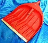 Красная снегоуборочная лопата 440х460
