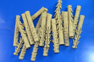 Дюбель ZUBR 14х100 mm усиленный,3 пары зубьев