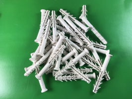 белый дюбель быстрого монтажа 8х80 потай