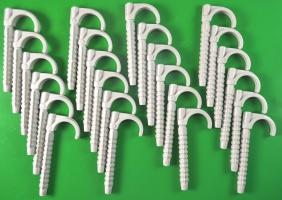 Дюбель крюк  100 mm одинарный  для крепления труб и кабеля 16-28 mm