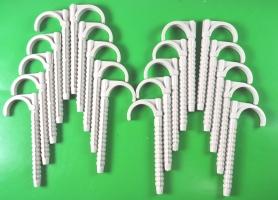 Дюбель крюк  120 mm одинарный  для крепления труб и кабеля до 35 mm